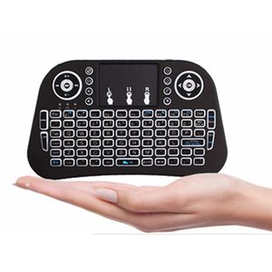 Mini I10 2.4G Air Mouse Teclado Sem Fio Com Touchpad Preto Recarregável Bateria de Lítio Transmissão Alcance até 10 metros práticos e simples para você