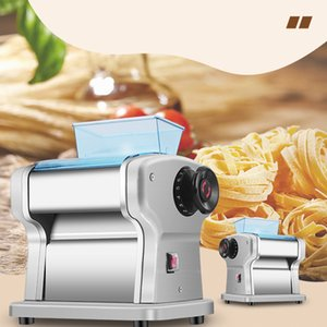 220V Household Automatic Noodle Maker machine Commercial Stainless Steel Dough Cutter Dumplings Roller Electric Pasta Maker Cutting Slicer