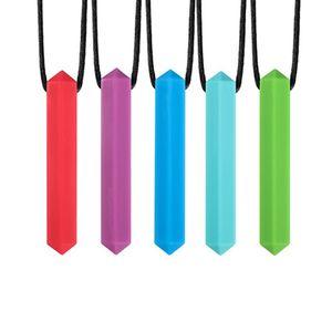 Duyusal Crayon Teether Kolye Otizm ve Diş Çıkarma Chewy Oyuncaklar için En Iyi Araçlar Y0123