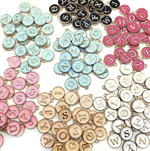 Arrival Enamel Alphabet Initial Letter Charms Handmade Pendant For Diy Bracelet Jewelry Making ps0442