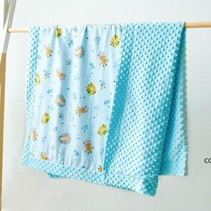 Baby Minky Blankets Toddler Nap Blanket Cartoon Newborn Stroller Sleep Cover Infant Bedding Quilt Swaddling Wrap HWA9433