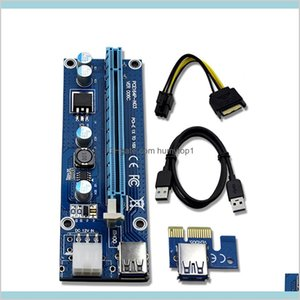 Riser Ver 006C Pcie Riser 6Pin 16X For Btc Mining With Led Express Card With Sata Power Cable And 60Cm Usb Quality Cable Uoesl 3Adgh