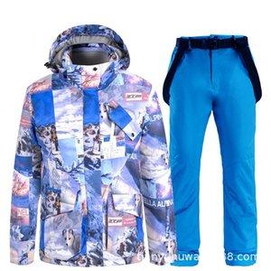 Skiing Jackets Fashion Men Women Ski Suits Couples Windproof Waterproof Snowboarding Suit Female Snow Overalls Jacket Pants Set