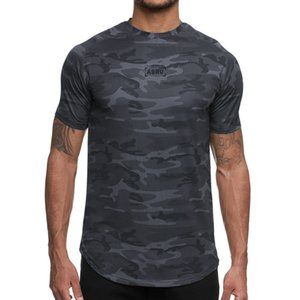 Asrv moda camuflaje de hombre secado rápido camisetas verano impreso manga corta camiseta hombre deporte fitness o-cuello tee koszulka