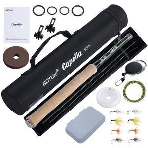 Goture Tenkara Fishing Rod Combo 3.6m Ultralight Carbon Fiber With Line Lure Clipper Portable Set Tackles Reel
