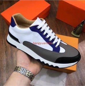 2021 جديد أحذية رياضية أعلى أزياء الرجال جلد البقر مريح عارضة الأحذية المسطحة أحذية عالية RDMKJ001
