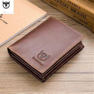 Мужская короткая противоугонная кисть кошелек натуральная кожа высокого качества RFID монета кошелек мужская большая емкость денег держатель карты