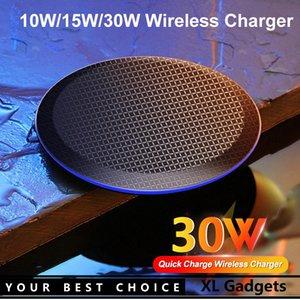 10W 15W 30W Fast Qi Wireless Charger Charging Pad For 11 Pro XS Max XR 12 Mini Samsung S20 xiaomi mi 10