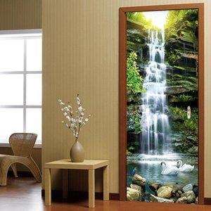 Wallpapers Po Wallpaper 3D Waterfalls Landscape Murals Living Room Study Door Sticker PVC Self Adhesive Waterproof Wall Paper Home Decor