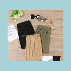 Ins Designs Little Girls Baby Girls' Casual Skirt With Hair Bow 2Pieces Set Summer European And American Fashion All-Match Pencil F3Eih