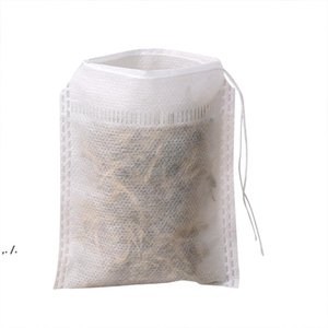 2021 Teabags 5.5 x 7CM Empty Scented Tea Bags With String Heal Seal Filter Paper for Herb Loose Tea Empty Scented DWE10631