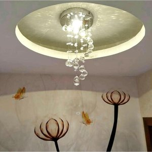 Modern Spiral Crystal Chandelier For Home Entrance Stair Staircase Aisle Corridor Ceiling Hanging Lamp Decoration LED Lights