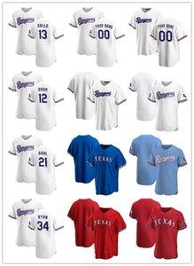 Jersey personalizado para mujer juventudTexasRangers13 Joey Gallo 12 Rougged Odor 21 David Dahl 34 Nolan Ryan Baseball Jerseys White Bl
