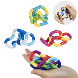 Us Stock Free Training Tangle Fidget Toys Erwachsene Relax Therapy Stress Relief Hand Sensorische Dekompression Verdrehte Wickelspielzeug Finger Für Kinder Autismus Geschicklichkeit