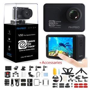 Akaso V50 Pro SE Action Camera Сенсорный экран Спортивная камера Фонда доступа Специальное издание 4K Водонепроницаемая камера WiFi Пульт дистанционного управления 210319