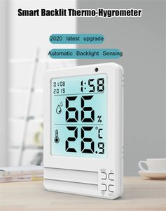 Electronic Digital Temperature Humidity Meter Thermometer Hygrometer Indoor Outdoor Weather Station Clock High ottie