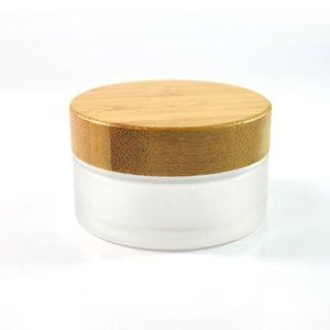 5 шт. * 50G маторизма прозрачные бамбуковые стеклянные контейнер косметические банки с крышкой 50 мл банки для хранения банок