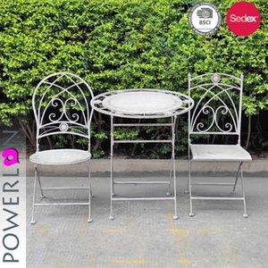 Outdoor Metallklapper Runde Bistro Sets und Esstische und Stühle