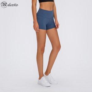 2020 Фитнес Нижние Горячие брюки Высокая талия Бедные Упругие Трехточечные брюки Женские Двусторонние Шорты Yoga