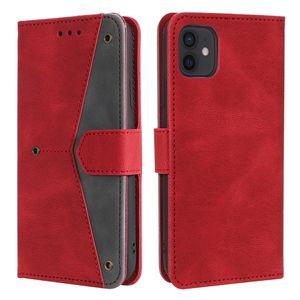 Для iPhone 11 Узор сращивания Мобильный телефон Защитный кожаный чехол для iPhone 12 Pro Max Case Case XR XS MAX 8 7 6 PLUS 5S