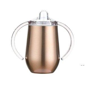 Sippy كأس البيض القدح طفل تلوانية 2- وظيفة 10 أوقية 304 الفولاذ المقاوم للصدأ معزول فراغ مزدوج البحر الشحن DHE5334