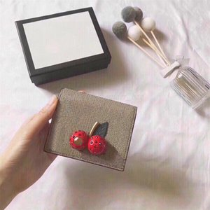Fashion Designer Luxury Clutch Bags Cherry Accessories Zipper Compartment Layer Purse Money Interlayer Wallet Crystal Mosaic Canvas Package