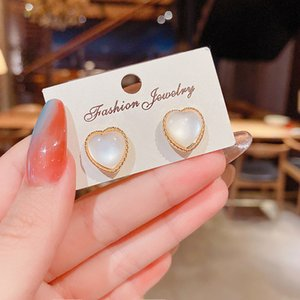 Wholesale price classic design studs titanium steel screw with drill earrings semi-circular opening with drill earrings for women gift 35