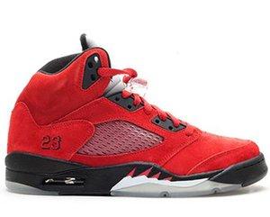 con scatola 2020 mens scarpe da basket sneakers 5s raging toro rosso per uomo scarpe sportive taglia US7-13