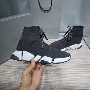 2021 Fashion Homme et féminin à lacets Bottes en tricot à lacets Slide Hiver Hiver Haute Qualité Respirant Chaussures Boîte d'origine Taille 35-45
