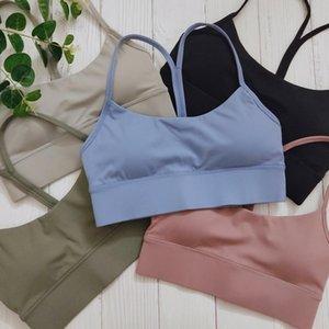 Vêtements de nuit Gymfever Type de Y-Type Y-Taille XL XXL Fitness Crop Tops Hauts d'entraînement Femmes Yago Retour Back Remue de Yoga Sports Bra pour femme NR0G