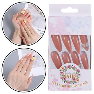 False Nails Beauty Bow Full Cover Jelly Gum Yellow Duck Fake Nail Artificial