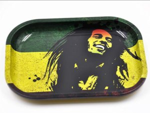 RAW BOB Marley Rolling Tray Metal Tobacco Roll 6 pattern 18cm*14cm*1.5cm small size for rolling papers herb grinder Machine Tools ju0145