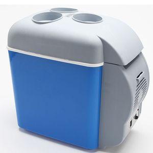 Electronics 7.5L mini refrigerador de coche 12V en azul multifunción portátil para coches Frigorífico Fortravel RV Más frío calentador