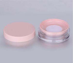 10 ml (0,33 oz) vide réutilisable en plastique en plastique en poudre compact Conteneur de maquillage bricolage boîtier de poudre de maquillage bricolage avec une éponge bouffée, matières grêle de net élastiquées et couvercle à vis