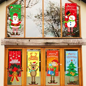 1 set Merry Christmas Porch Door Banner Hanging Ornament Christmas Decoration For Home Xmas Natal Noel 2021 Happy New Year 2022
