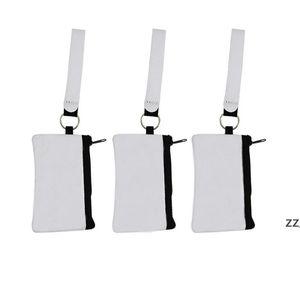Sublimation Blank Credit Card Holder Storage Bags Heat Transfer Print Neoprene Purse Lanyard Wristlet Wallets Handbags by sea HWB10728
