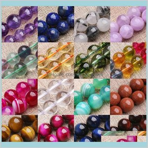 6Mm 8Mm 10Mm Healing Precious Round Stone Bead For Jewelry Making Diy Bracelet Necklace Crystal Spacer Loose Beads V5Eij Oqrgl