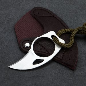 Mini MC Pocket open cutter box package opener knife tool Outdoor camp gadget portable claw Karambit sheath Survive HW190