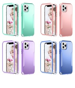 3 in 1 Shockproof Armor Phone Cases 11 Pro Max 360 Heavy Duty Protection Hard PC Cover For iPhone 12 MIni