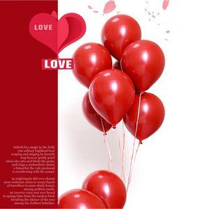 3 # 10pcs10inch globos Doble Capa Rojo Redondo Decoración Accesorios de látex Día de San Valentín Decoración Globos