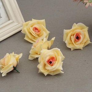 Pcs Fake Artificial Silk Rose Heads Flower Buds DIY Bouquet Home Wedding Craft Decor Supplies ADW889 Decorative Flowers & Wreaths