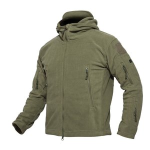Winter Warm Military Tactical Thicken Hiking Hunting Jackets Outdoor Hooded Fleece Coat High Quality Multiple Pocket Outerwear