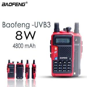 Walkie Talkie 2021 Baofeng BF-B3 Plus Update Of 4800mAh IP67 Waterproof Tri-band Long Played Powerful Radio