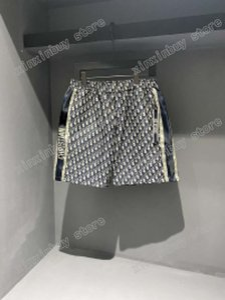21ss Mens designer shorts pants Jacquard fabric Double letter Men Pant Casual letters Trousers black gray 06