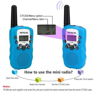 Walkie Talkie RT388 Children 2 Pcs Children's Radio Walkie-Talkie Kids Birthday Gift Toys For Boys Girls 100-800M Range