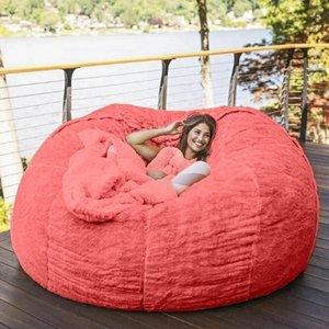 Лагерная мебель капля 180см гигантский меховой меховой бобовый мешок крышка гостиной большой круглый мягкий пушистый из искусственной фанатов ленивый диван-кровать