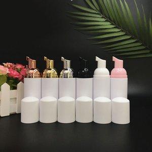 Rose Gold Foaming Pump Bottles Plastic Mini Foam Sispensing Refill Bottle Soap Dispenser for Cleaning, Travel, Cosmetics Packaging 60ml