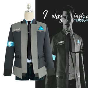 Detroit Become Human RK800 Connor Cosplay Costume Complete Outfit Jacket Coat