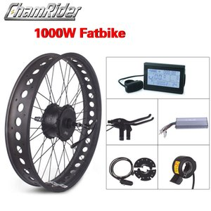 Electric Bicycle Fat Tireel Hub Brushless Motor Kit 48V 1000W 26 inch aluminum alloy outdoor beach mountain snow bike Seat LCD Rear Wheel Direct Drive