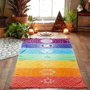 2021 tappeti multifunzione silenziatore piazza spiaggia asciugamano colorato serie colorato scialle skirt skirt vasca da bagno sciarpa in poliestere tappeto